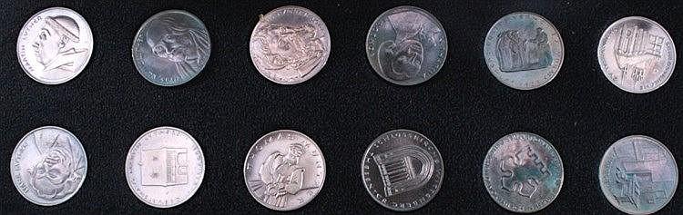 12 Medaillen DDR, Silber, 450 Jahre Reformation