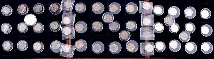 49 Münzen BRD, größtenteils 5 DM, auch Silber