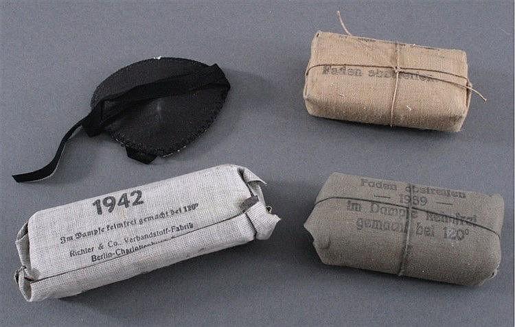 Konvolut Verbandpäckchen, WK I und WK II