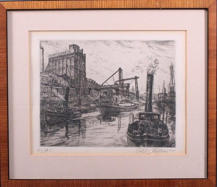 Rudi Müllers 1895-1972 ' Mannheimer Hafen'