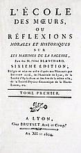[PEDAGOGY OF XVIIITH CENTURY] BLANCHARD. L'Ecole