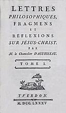 [Enlightenment] AGUESSEAU. Lettres Philosophiques