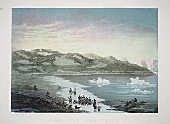 [Greenland] 3 lithographs, 1 engraving.