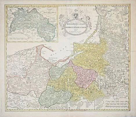 [Borussiam, Districtum Notecensem] Map