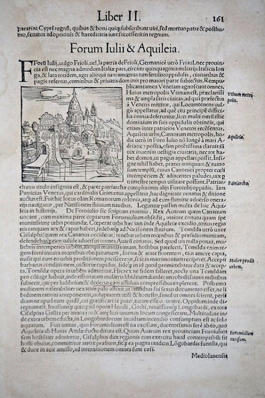 [Aquileia] Munster. 3 woodcuts