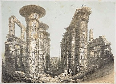 [Egypt] 6 views and monuments, lithographies