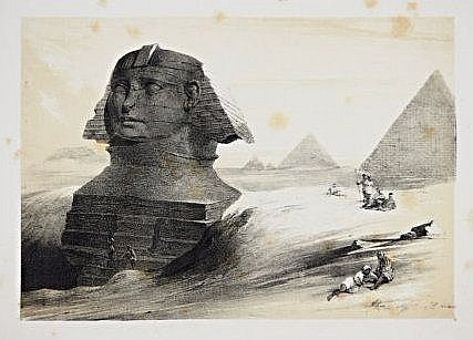 [Egypt] 7 views and monuments, lithographies