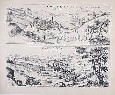 Nocera-Castel Novo, engraving