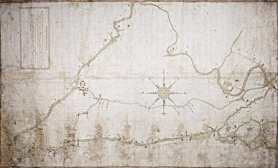 [Vicenza] Manuscripted map