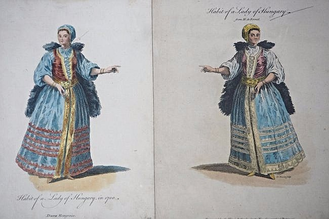 [Hungary] 8 engravings of views and costumes