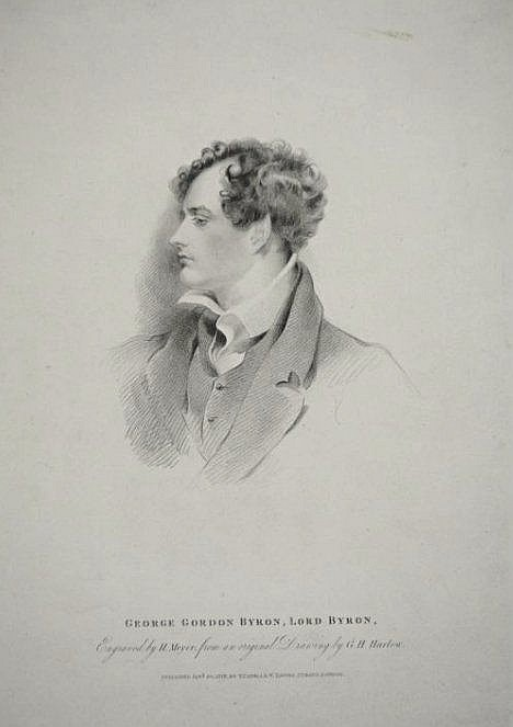 [United Kingdom] Portrait of Lord Byron and views