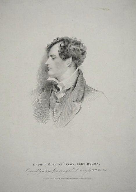 [United Kingdom] Portrait of Lord Byron and views