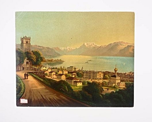 [Swiss] 3 chromolithographs of landscapes