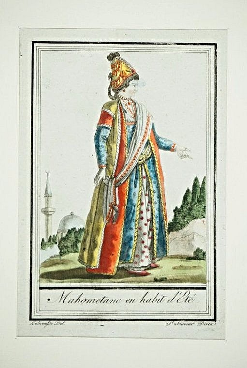 [Arabian Costumes] 4 engravings