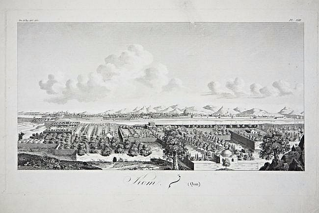 [Persia] 4 Views of Persia, XVIII century