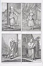 [Persia - Costumes] 4 Views of Persia, XVIII century