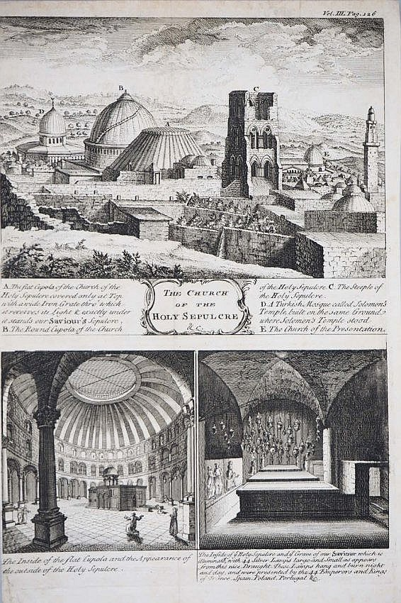 [Jerusalem] collection of 4 engravings