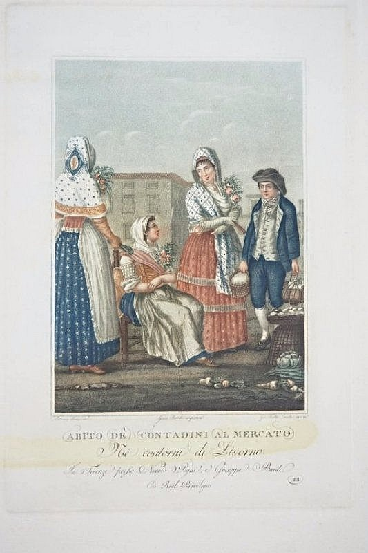 [Tuscany Costumes] 3 engravings