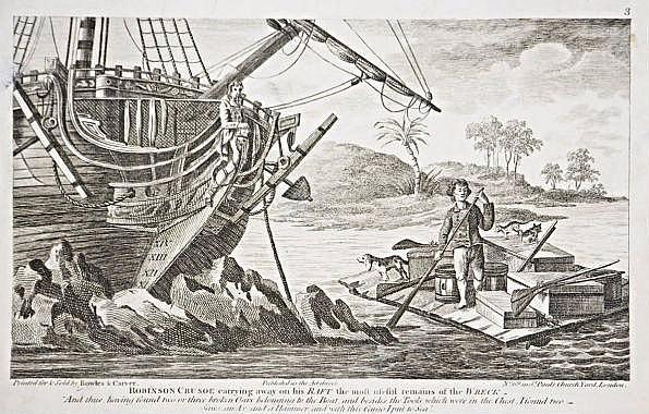 Robinson Crusoe, 10 engravings