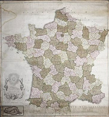 [Wall map] France
