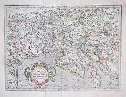 [Mercator-Hondius] Karstia, Carniola Map