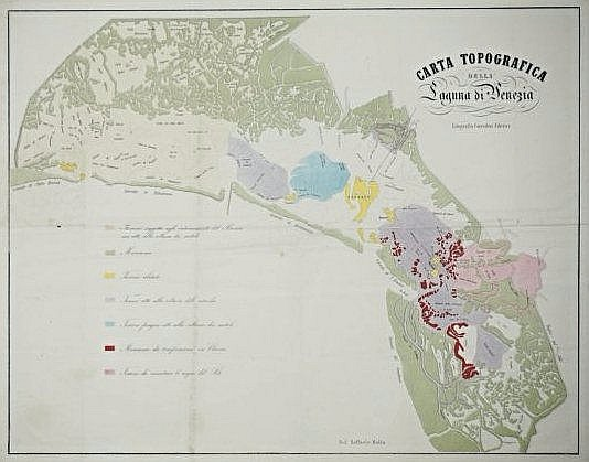 [Venice] Topographic view of the Venetian Lagoon