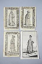 [Egypt] 4 woodcuts.