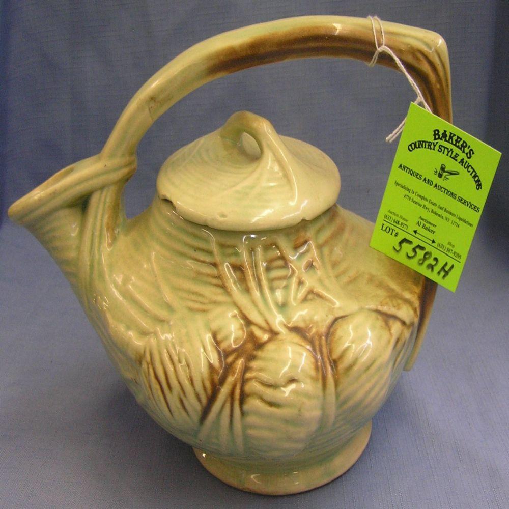 Antique McCoy signed tea pot