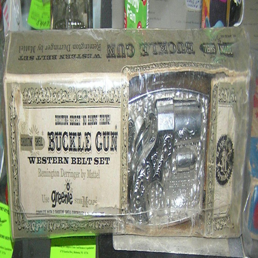Early Mattel buckle gun with western belt in original box