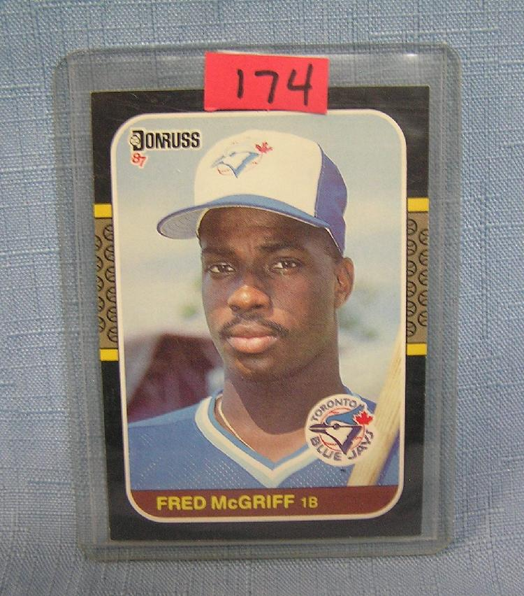 Vintage Fred Mcgriff Rookie Baseball Card