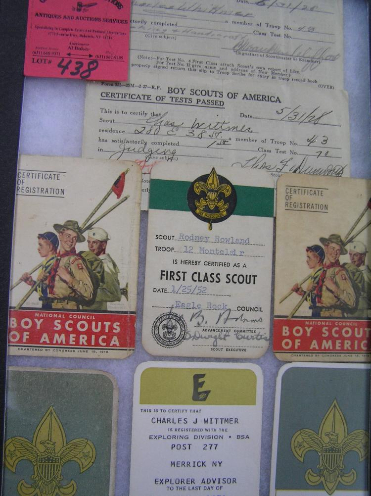 Group of vintage boy scout collectables