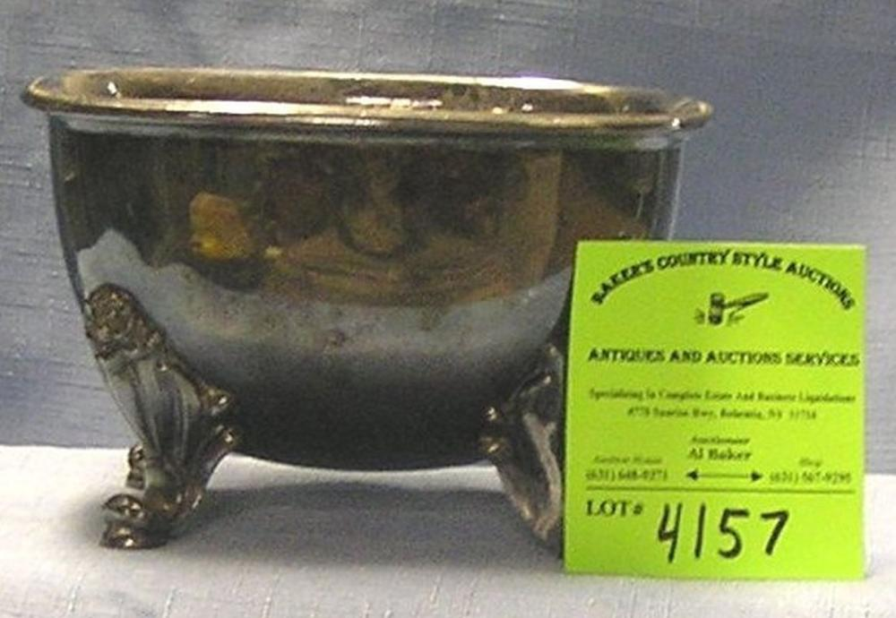 ANTIQUE SILVER PLATED FOOTED BOWL