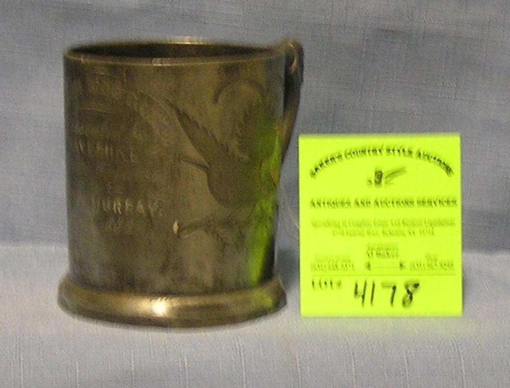 ANTIQUE QUALITY SILVER PLATED PEWTER PRESENTATION CUP
