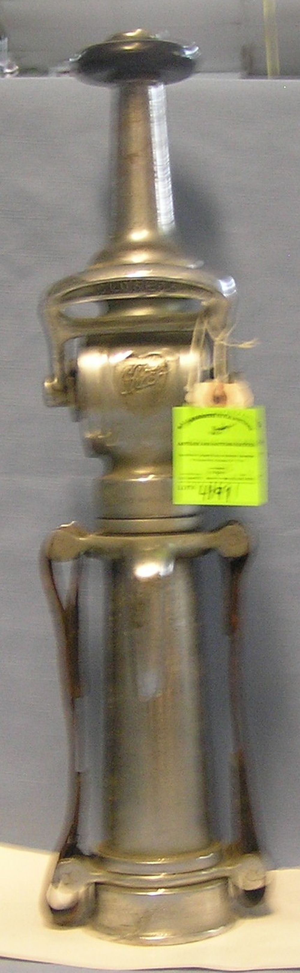 ANTIQUE FIRE NOZZLE BY ELKHART BRASS COMPANY