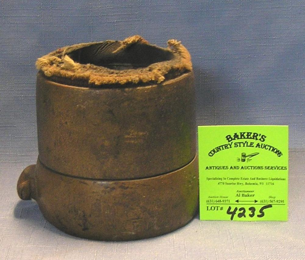 ANTIQUE SOLID BRASS FIRE DEPARTMENT COUPLING