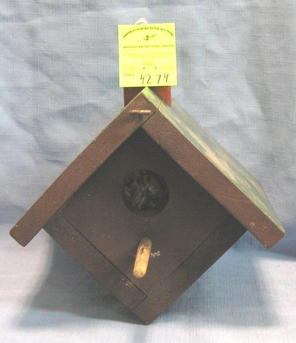 ANTIQUE BIRD HOUSE CIRCA 1930'S