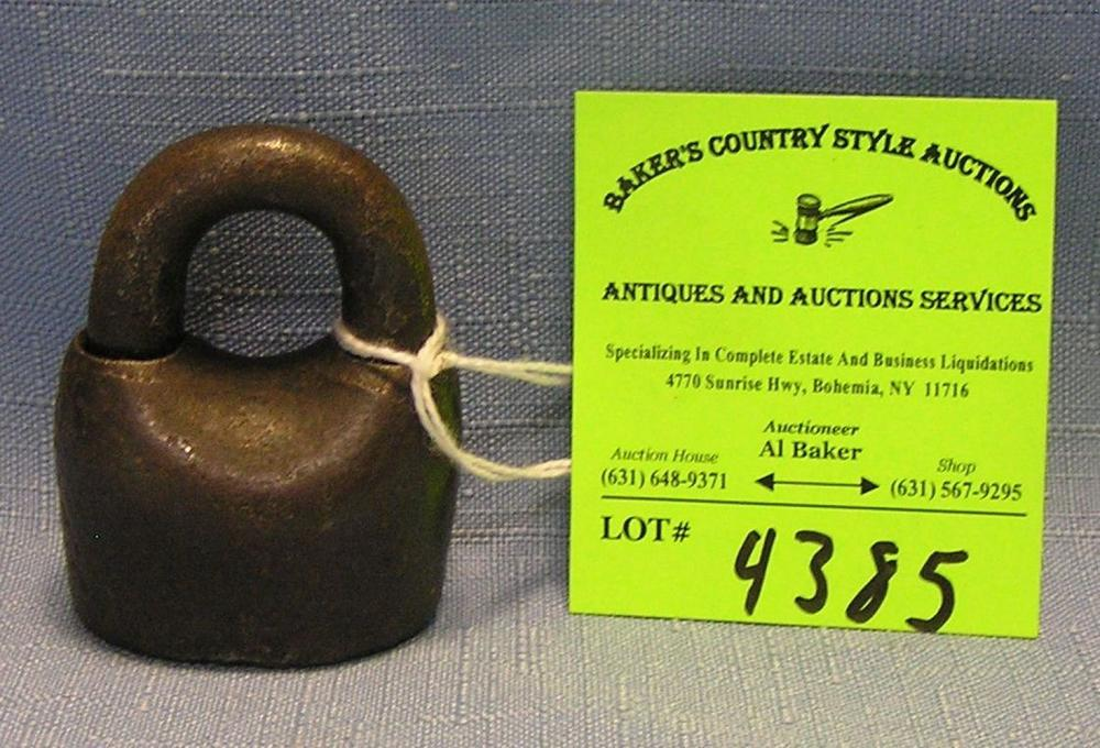 ANTIQUE CAST IRON BARREL LOCK