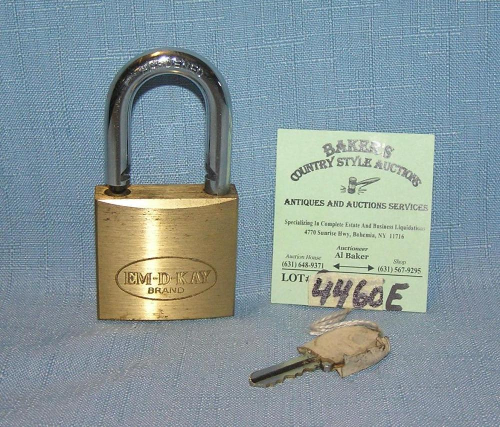 BRASS AND HARDEN STEEL PAD LOCK WITH KEY