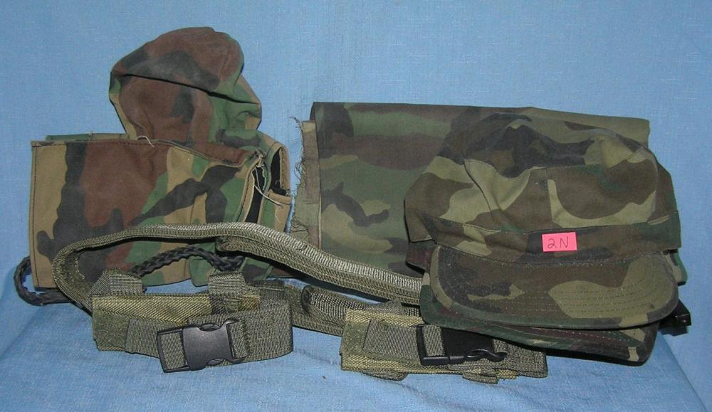 GROUP OF CAMOUFLAGE COLLECTIBLES AND MORE