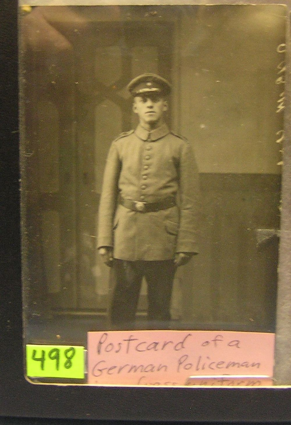 WWII GERMAN POLICE MAN PHOTO POSTCARD