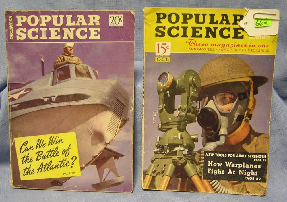 PAIR OF WWII ERA POPULAR SCIENCE MAGAZINES