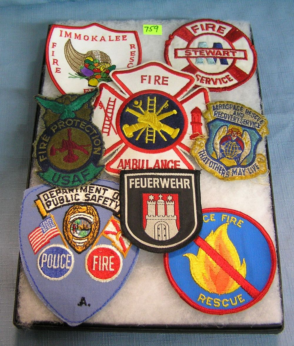 COLLECTION OF VINTAGE FIRE DEPARTMENT PATCHES