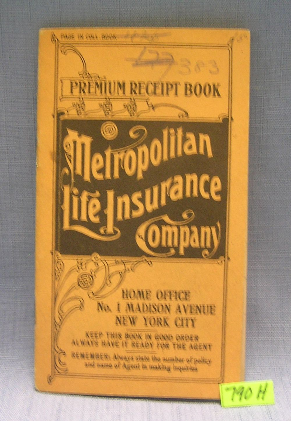 METROPOLITAN LIFE INSURANCE CO. PREMIUM BOOKLET