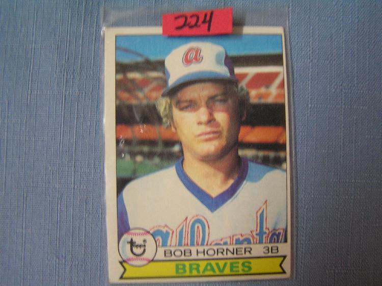 Bob Horner Rookie Baseball Card