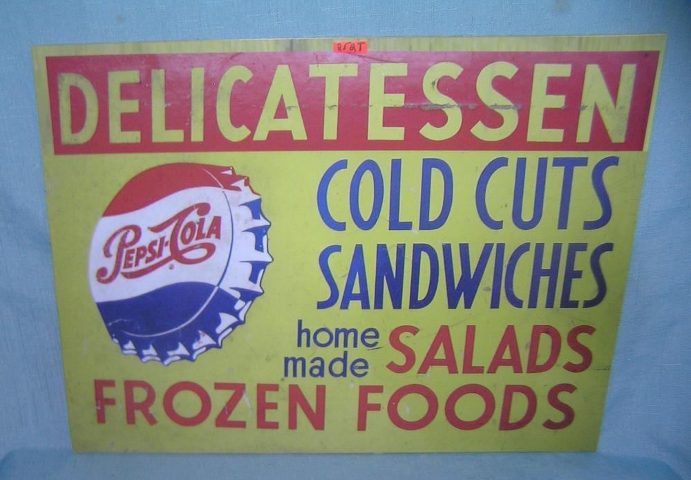 Pepsi Cola Delicatessen retro style advertising sign