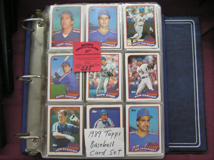 1989 Topps Baseball Card Set Complete In Album