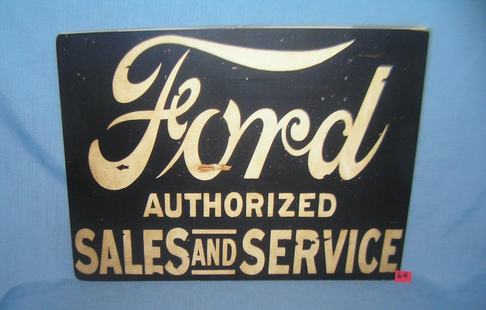 Ford authorized parts and service retro style sign