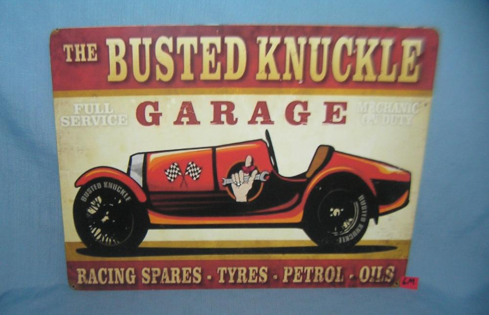 The Busted Knuckle Garage retro style sign
