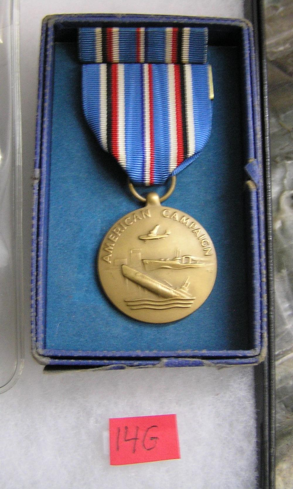 WWII American Campaign and service medal and bar