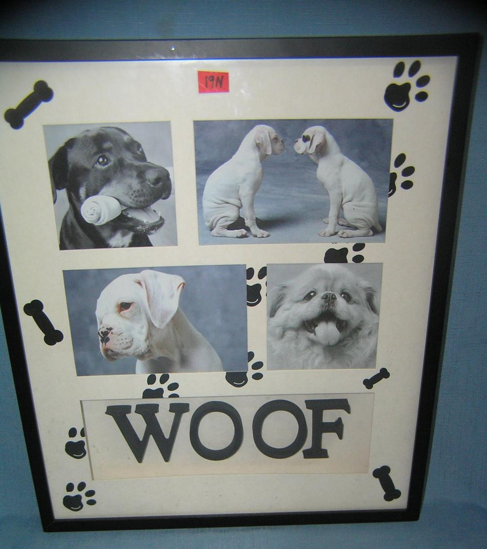 Woof dog photo diorama